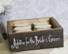 Rustico Guest Book Box consigli per la sposa e lo sposo medio (art. P10415)