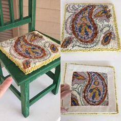 Knitting Wool Rug Hooking Kit with 21cm Frame Punch Needle Cat DIY Latch Lock kit