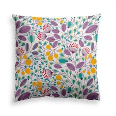 Try our PURPLE GROVE throw pillow. Add floral elegance to your home with our wild. Floral Pillows, Decorative Throw Pillows, Summer Flowers, Wild Flowers, Flower Pillow, Modern Contemporary, Pillow Covers, Tapestry, Shapes