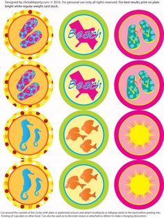 free printables summer party party circles
