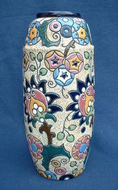 Art Nouveau Amphora vase c1900