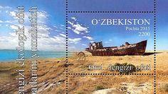 """Am 12. Januar 2016 erschien in Usbekistan ein Block unter dem Titel """"Die Katastrophe des Aralsees"""". Abgebildet wurde ein verrostetes Schiff im Sand. Das Schiff liegt auf dem Grund des nahezu vollkommen ausgetrockneten Aralsees. So makaber die Darstellung wirkt, die…"""