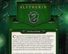 I'm a Slytherin on Pottermore!