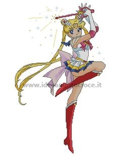 SCHEMA SAILOR MOON PUNTO CROCE
