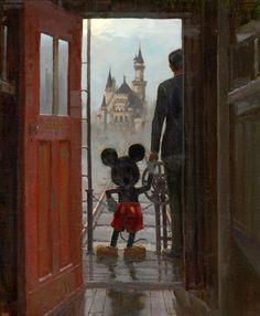 Sharing a Dream, Mickey Mouse and Walt Disney. Disney Pixar, Disney Magic, Disney Parks, Retro Disney, Disney Amor, Art Disney, Disney And Dreamworks, Vintage Disney, Disney Love