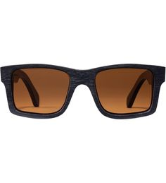 Shwood Dark Walnut Brown Polarized Haystack Sunglasses