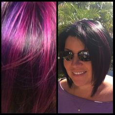 Wild Orchid and Violet highlights.....Pravana.