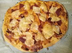 Rýchla pizza bez kysnutia - recept | Varecha.sk Hawaiian Pizza, Food, Hampers, Essen, Meals, Yemek, Eten
