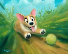 Friends Along The Way Romantic Drawing, Cartoon Painting, Watercolor Sketchbook, Art Friend, Cartoon Dog, Cute Images, Cute Illustration, Cute Drawings, Cute Art