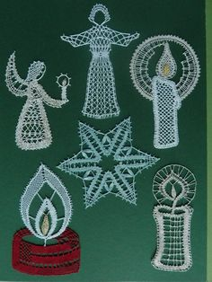 Crochet Angels, Lace Making, Bobbin Lace, Christmas Pictures, Motifs, Crochet Earrings, Blog, Couture, How To Make