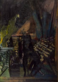David Bomberg Bomb Store, 1942 Oil paint on paper on canvas 1056 x 649 mm Collection Tate David Bomberg, English Artists, British Artists, Tate St Ives, Frank Auerbach, Tate Gallery, Tate Britain, David Hockney, Art Database