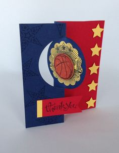 Thank you - Basketball themed with school colors.