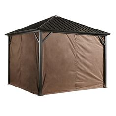 Shop Sojag  135-7157369 Spun Polyester Curtains for Dakota 10-ft x 10-ft Sun Shelter at Lowe's Canada. Find our selection of gazebos at the lowest price guaranteed with price match + 10% off.