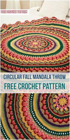 Circular Fall Mandala Throw - Crochet Pattern