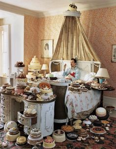 Cake-centric.  forget the man  I want the room full of cake    its been so long since I ate cake