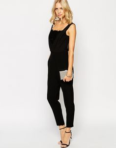 Image 4 of Ted Baker Jumpsuit with Lace Wrap Front
