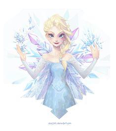 Crystalline - Queen Elsa by Zae369