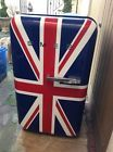 SMEG UNION JACK FLAG FRIDGE/ICEBOX. HARDLY USED. MUST SEE.