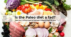Have you tried Paleo yet? Take our quick 2 minute quiz to find out if the Paleo diet is right for you. http://paleoquiz.com/p1