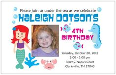 my daughters 4th birthday party invites!!! done by shout out designs & graphics