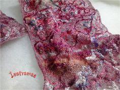 Detalhe echarpe rosa antigo 1. Visite www.isatramas.com.br