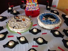 DIY pirate birthday cake and cup cakes