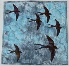 Migration by Chantal Guillermet: Fifteen by Fifteen art quilt group
