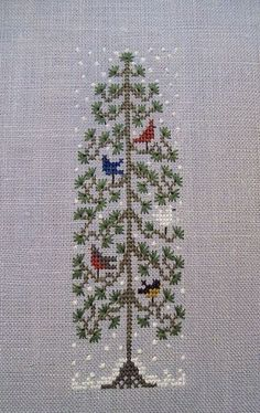 #CrossStitch #Snow #Christmas #FreePattern by Drawn Thread http://www.drawnthread.com/Resources/Free%20Chart%20pdfs/FirstSnow.pdf