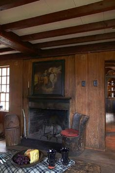 Gallery - The William Haskell House Rustic Fireplaces, Cozy Fireplace, New England Homes, England Houses, Rustic Interiors, House Interiors, Colonial House Plans, Simply Home, Primitive Homes