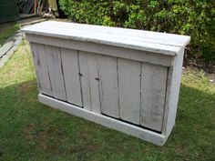 chunky reclaimed wood cabinet by LazyDazeWhitby on Etsy, Alcove?