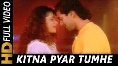 Kitna Pyar Tumhe Karte Hain | Kumar Sanu, Sadhana Sargam | Ek Ladka EK Ladki 1992 Songs|Salman Khan - YouTube