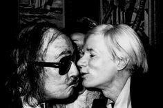 Studio 54.  Salvador Dalí and Andy Warhol.