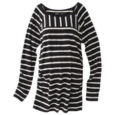Liz Lange® for Target® Maternity Long-Sleeve Striped Tee - Black/White