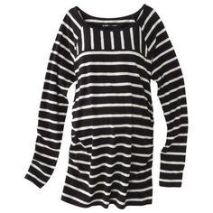 Liz Lange® for Target® Maternity Long-Sleeve Striped Tee - Black/White
