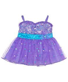 Purple & Turquoise Sequin Dress | Build-A-Bear Workshop