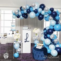 Soonlyn Blue Balloons 100 Pack Light Blue and Silver Balloons White Navy Blue Balloons Arch Kit for Baby Shower Birthday Party Event Celebration Baby Shower Balloons, Baby Shower Parties, Baby Shower Themes, Baby Boy Shower, Baby Shower Decorations, Balloon Arch, Balloon Garland, Balloon Decorations, Birthday Decorations