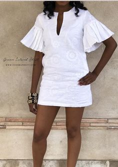All White Party Outfits, Classy Outfits, Chic Outfits, Fashion Outfits, African Wear Dresses, African Attire, Simple Dresses, Casual Dresses, Short Dresses