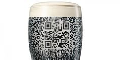 Beer glass reveals QR code only when filled with Guinness