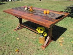 6' Farmhouse Dining Table, Picnic Table, Barn Wood, Antique Table, Reclaimed…