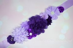 Purple Maternity sash, Baby Shower Sash, Its a girl sash, Maternity Sash, gender reveal sash, Pregnancy sash, Mom to be sash, Lavender sash by AnniesChicBowtique on Etsy