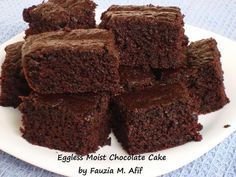 Eggless Moist Chocolate Cake | Fauzias Kitchen Fun