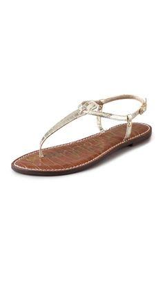 new style a1156 c1eb4 Sam Edelman Gigi T Strap Flat Sandals Sandalias Doradas, Sandalias Para  Mujeres, Sandalias Planas