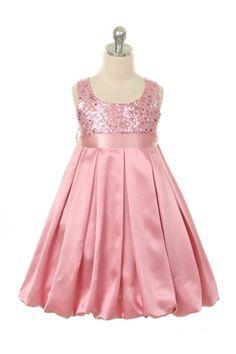 Girls Elegant satin sequence dress