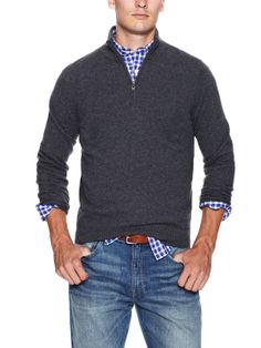 Partial Zip-Front Cashmere Sweater by Dartmoor at Gilt