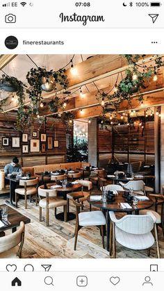 437 Likes, 3 Comments – Restaurant & Bar Design ( … Deco Pizzeria, Deco Restaurant, Outdoor Restaurant, Bistro Interior, Restaurant Interior Design, Cocktail Bar Interior, Bar Design, Coffee Shop Design, Small Restaurant Design