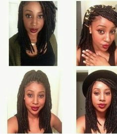 Stupendous Shoulder Length Bob Box Braids Protective Style Protective Hairstyle Inspiration Daily Dogsangcom
