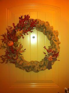 Autumn Burlap Wreath