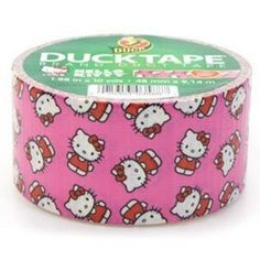 This roll of Duck Brand Hello Kitty Duct Tape features a Hello Kitty picture on a pink background. inches x 10 yards Exclusive limite Hello Kitty Toaster, Chocolate Advent Calendar, Hello Kitty House, Chia Pet, Duck Tape Crafts, Thinking Day, Cat Party, Duct Tape, Masking Tape