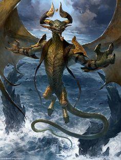 MtG Art: Nicol Bolas, the Arisen from Core Set 2019 Set by Svetlin Velinov - Art of Magic: the Gathering Fantasy Dragon, Fantasy Warrior, Dragon Art, Fantasy Art, Fantasy Creatures, Mythical Creatures, Mtg Planeswalkers, Mtg Art, Walker Art