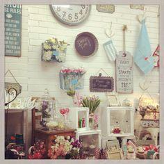 Pretty shop display Lavish Abode Lilydale Vic Aus
